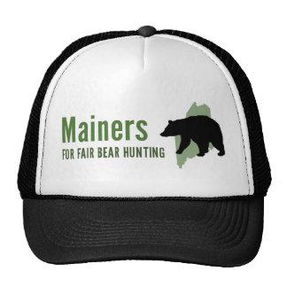 Gorra justo del camionero de la caza del oso