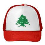 Gorra libanés de la bandera