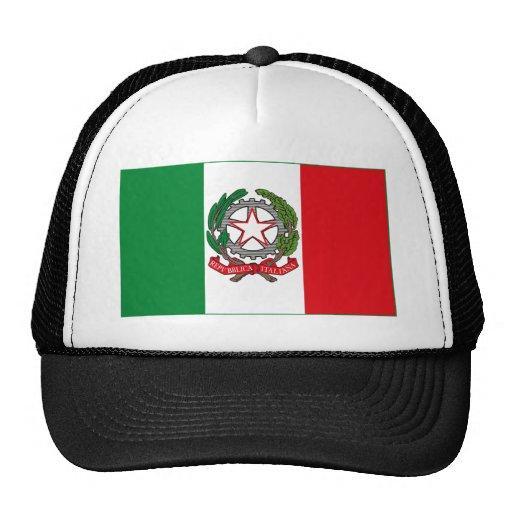 Gorra (ligero) del COA de la bandera w de Italia