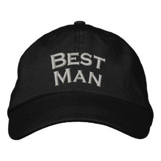 Gorra lindo bordado el mejor hombre del boda gorra de béisbol