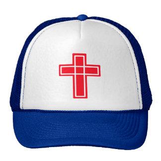 Gorra lindo cruzado rojo y blanco cristiano