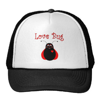 Gorra lindo de la mariquita del insecto del amor