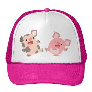 Gorra lindo de los cerdos del dibujo animado del b