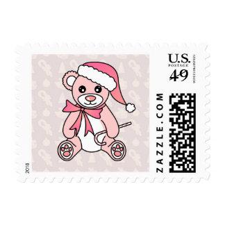Gorra lindo de Santa del oso de peluche del Timbre Postal