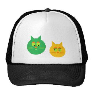 Gorra lindo del camionero de los gatos