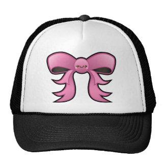 Gorra lindo del camionero del arco del rosa de