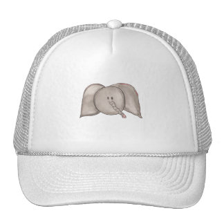 Gorra lindo del elefante del dibujo animado de la