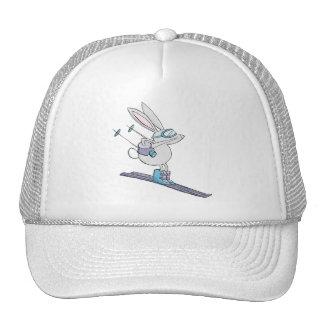 Gorra lindo del esquiador del conejito de la nieve