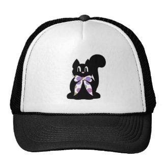 Gorra lindo del gato del gatito del negro del
