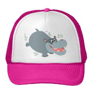 Gorra lindo del hipopótamo del dibujo animado de l