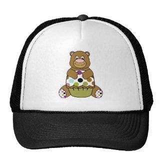 Gorra lindo del oso del cumpleaños de Brown del