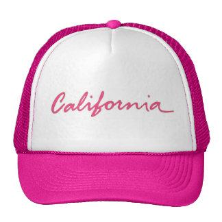 Gorra local de la escritura del tema rosado de Cal
