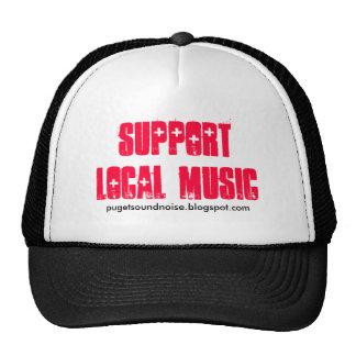 Gorra local del camionero de la música de la ayuda