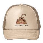 Gorra loco de la señora del gato