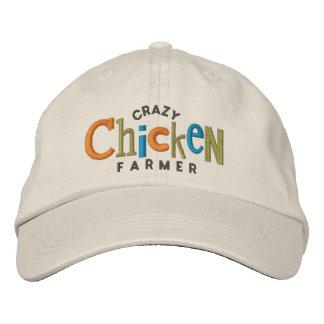 Gorra loco del bordado del granjero del pollo gorras de béisbol bordadas