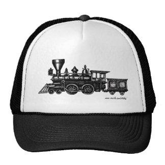 Gorra locomotor del arte gráfico del motor de vapo