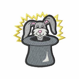 Gorra mágico con el conejo camiseta polo bordada