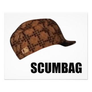 "Gorra Meme de Scumbag Steve Folleto 4.5"" X 5.6"""