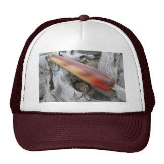 Gorra menor rojo del señuelo del vintage del nadad