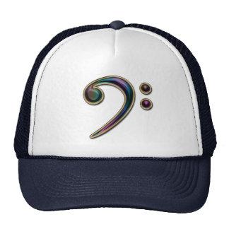 Gorra metálico colorido de la música del Clef bajo