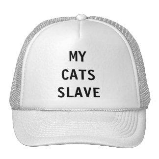 Gorra mi esclavo de los gatos
