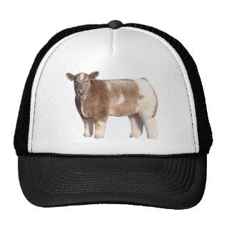 Gorra mullido del camionero de la vaca