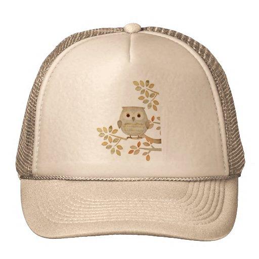 Gorra musical del búho del árbol