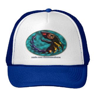 Gorra muy extraño del camionero de los pescados