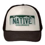 Gorra nativo del recuerdo de la placa de Colorado