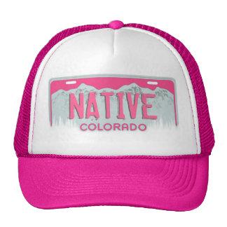 Gorra nativo rosado de la placa de Colorado