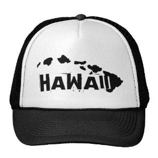 Gorra negro blanco de las islas de Hawaii