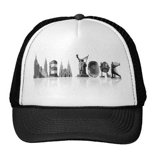 Gorra negro/blanco del camionero de Nueva York
