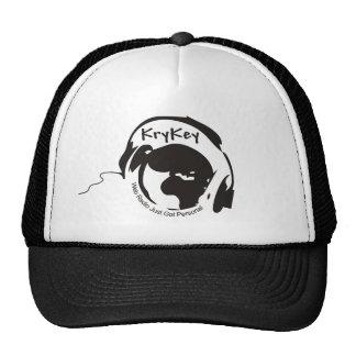 Gorra negro/blanco del logotipo de KryKey