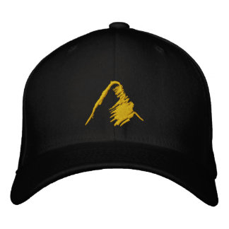 Gorra negro con el logotipo anaranjado bordado gorra de béisbol bordada