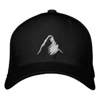 Gorra negro con el logotipo blanco bordado gorra de beisbol bordada