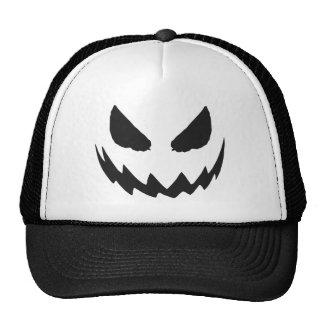 Gorra negro de Halloween de la Jack-O-Linterna