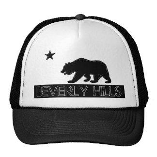 Gorra negro de la bandera blanca de Beverly Hills