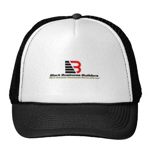 Gorra negro de los constructores del negocio