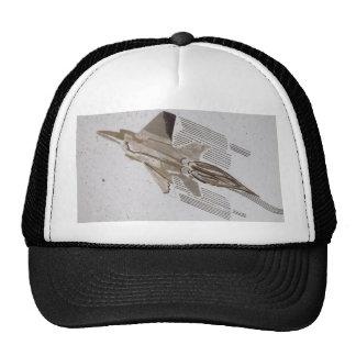 Gorra negro del camionero de la caza a reacción