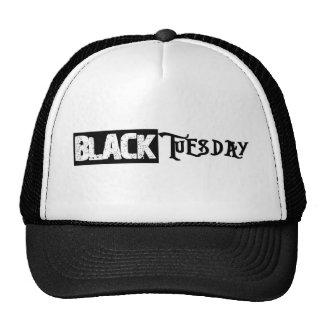 Gorra negro del camionero de martes