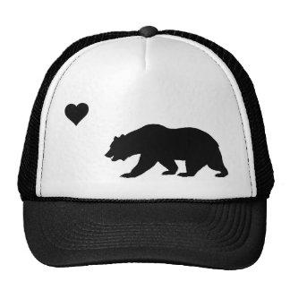Gorra negro del camionero del amor de California