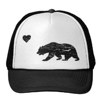 Gorra negro del camionero del amor de California d