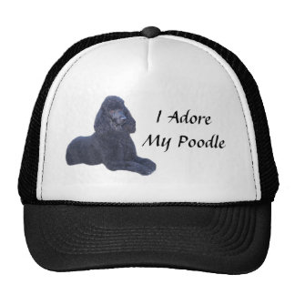 Gorra negro del caniche que adoro