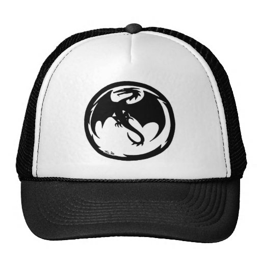 Gorra negro del dragón