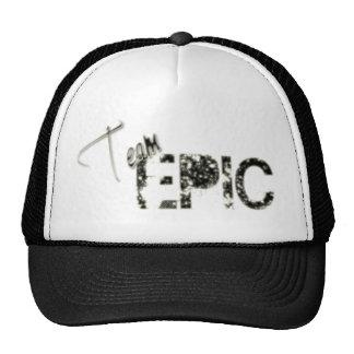 Gorra negro épico del equipo