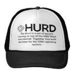 Gorra negro GNU/HURD