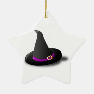 Gorra negro púrpura y amarillo de la bruja con ornamentos de reyes