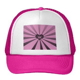 Gorra negro rosado del cráneo