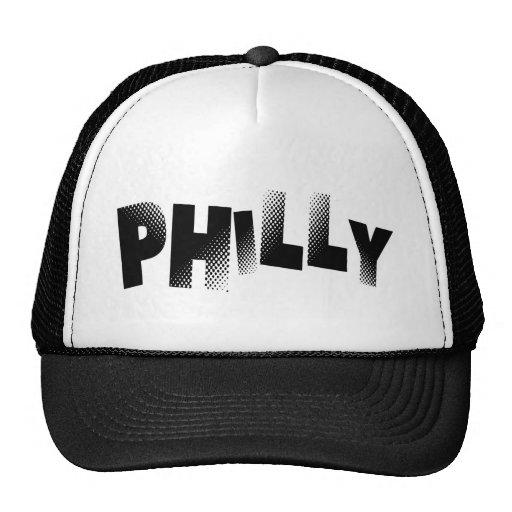 Gorra negro y blanco del camionero de Philly