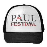 Gorra negro y blanco del festival de Paul del cami